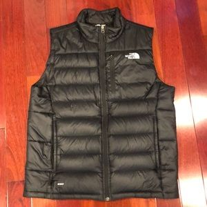 Men's North Face Puff Vest 550 Medium Black
